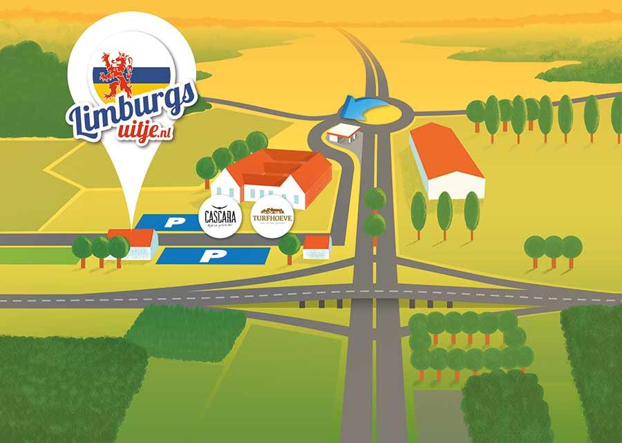 Plattegrond van Limburgs Uitje