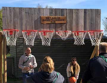 Basketballen spel